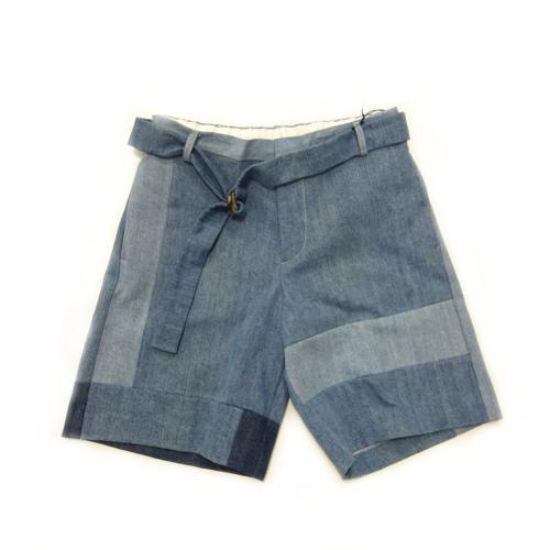 画像1: MAISON FLANEUR / Patchwork Denim Shorts (1)