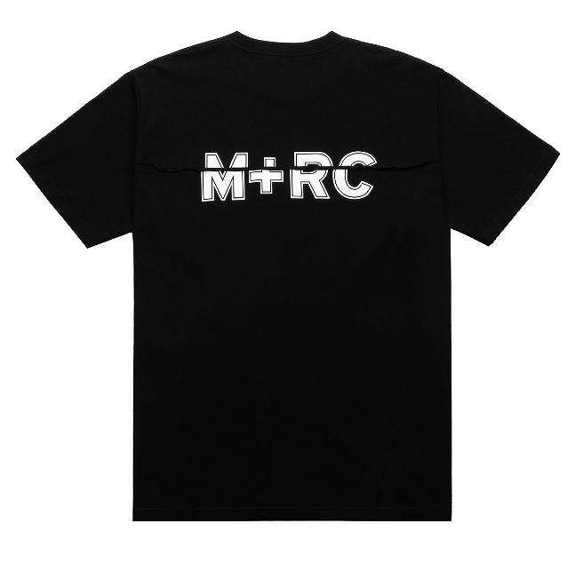 画像1: M+RC NOIR SPLIT BLACK TEE (1)